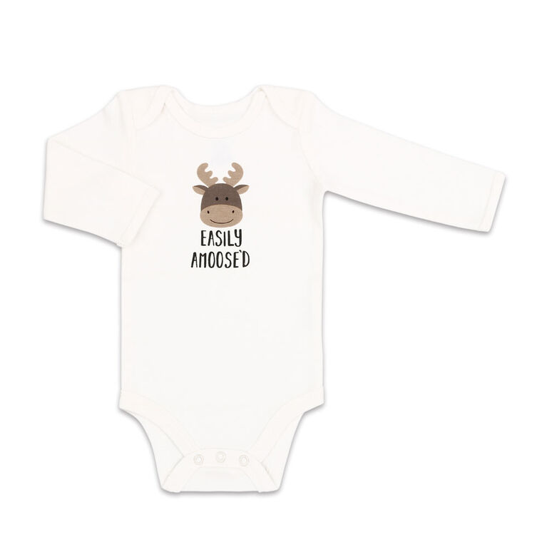 Koala Baby 4Pk Long Sleeve Bodysuit Easily Amoosed, Preemie