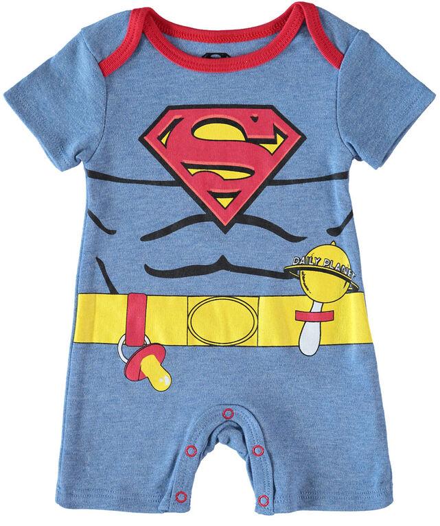 Superman super-héros futur infantile pack de 2 barboteuse 0-3M Bleu