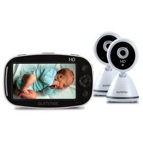 Summer Infant Baby Pixel DUO Zoom HD 5.0 Inch High Definition Video Monitor