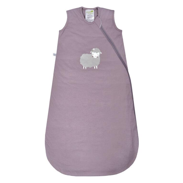 Sac De Nuit-Coton-Mouton Prune (1Tog) - 0-6 Mois