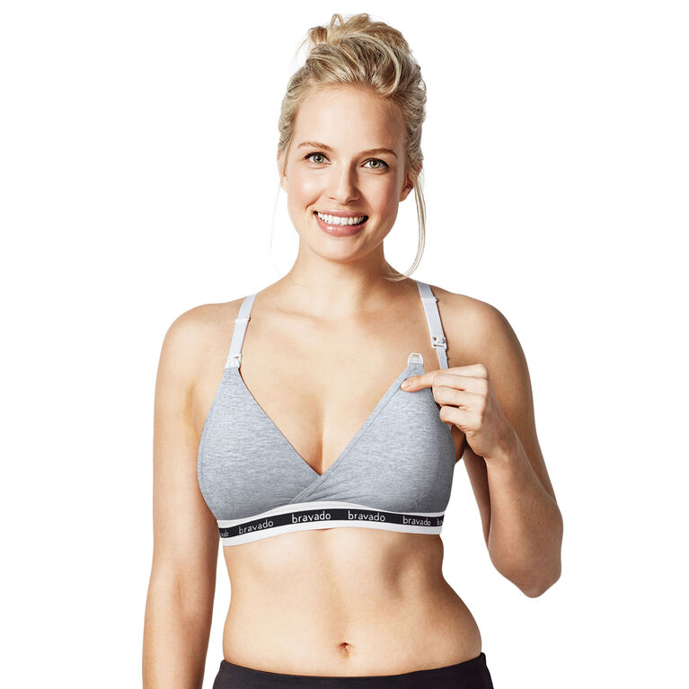 Original Nursing Bra - Dove Heather, Large