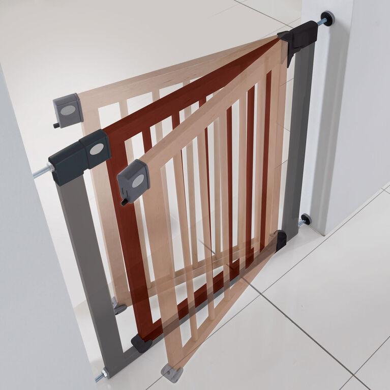 Barrière de sécurité déco bois et acier - Notre exclusivité