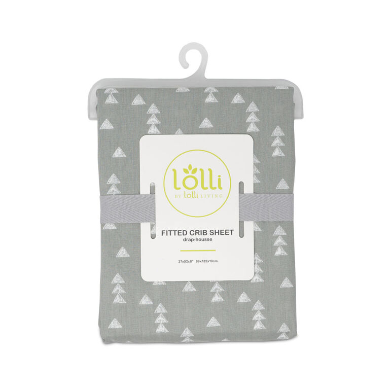 Lolli by Lolli Living Drap-Housse Pour Lit de Bébé - Triangles