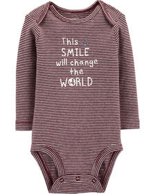"""Cache-couche Carter's à collectionner """"This Smile Will Change The World"""" - prune, 3 mois"""