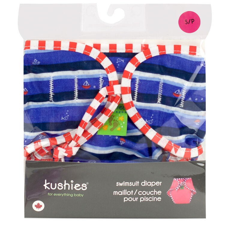 Kushies Swim Diaper, Large - Ahoy Print