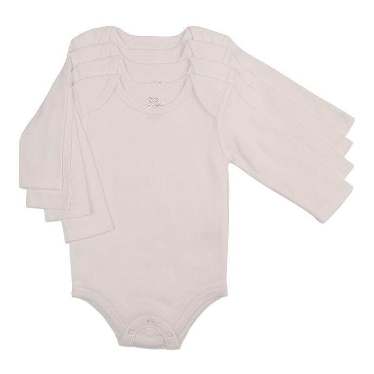 Koala Baby 4-Pack Bodysuit - White, 6-9 Months
