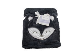 Koala Baby Fun Fur 3D Blanket Denim Fox