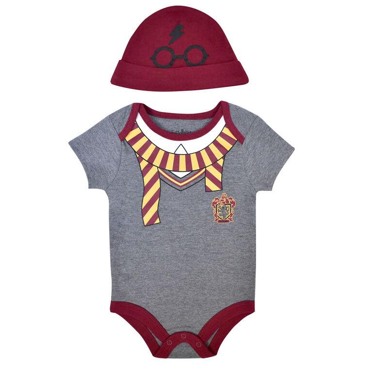 Warner's Harry Potter Bodysuit with hat - Grey, Newborn-0 Months