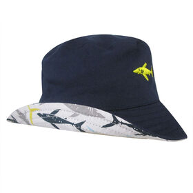 Baby B - Bucket Hat - Shark, Blue, 0-12M