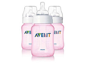 Philips AVENT Anti-colic bottle 9oz, 3 Pack – Pink
