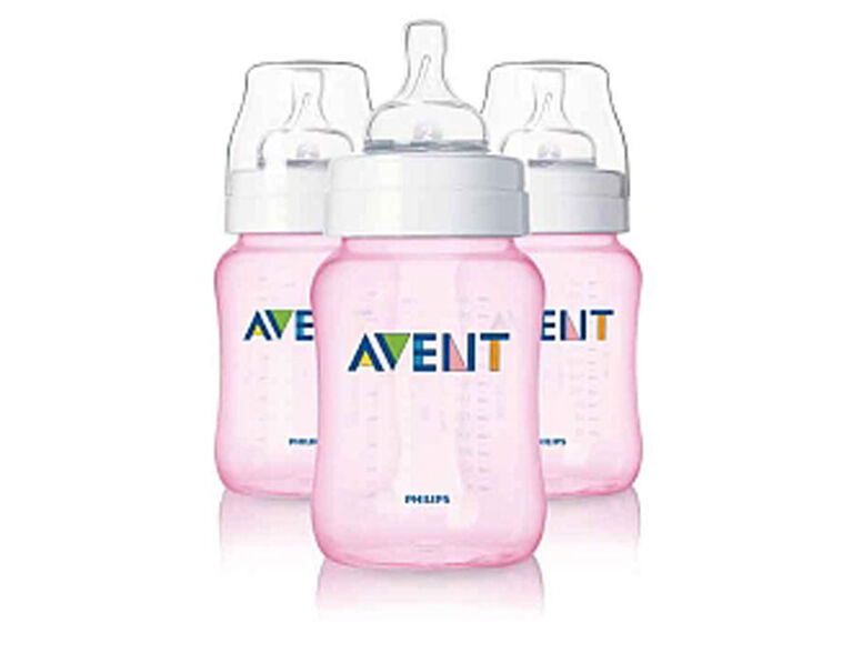 Biberon Anti-colique Philips AVENT, 240 ml, 3 pq - Rose.