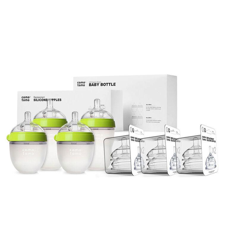 Comotomo - Baby Bottle Bundle - Green.