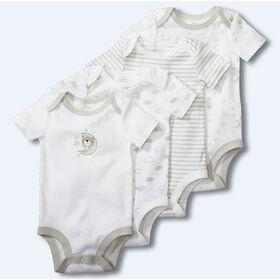 Koala Baby 4-Pack Bodysuits - Grey/White, 6-9 Months