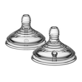 Tommee Tippee Closer to Nature Extra Slow Flow Nipple, 2-Pack