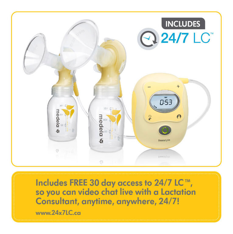 Medela Freestyle Double Electric Breastpump - with BPA-Free Bottles