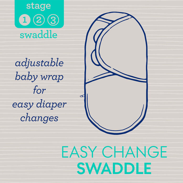SwaddleMe Arms Free 1PK Convertible Swaddle Wrap LOVE STAGE 2