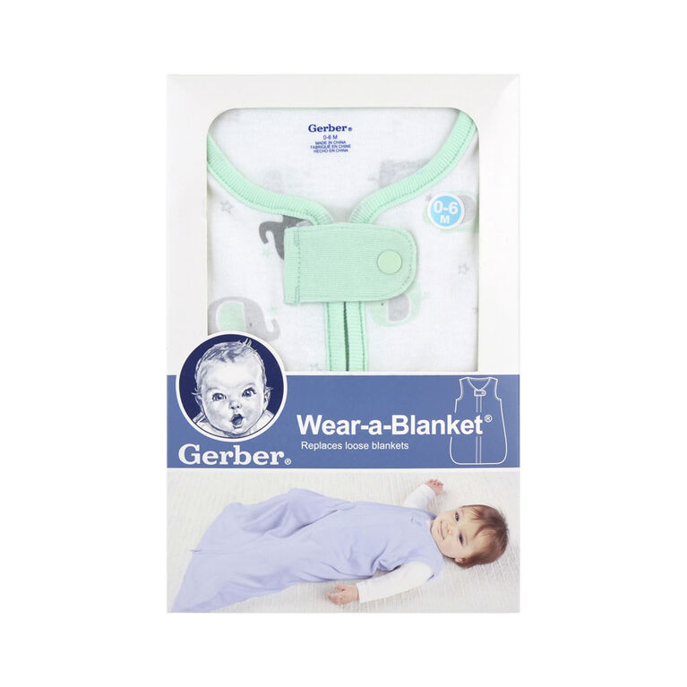Gerber Wear-A-Blanket - Elephant