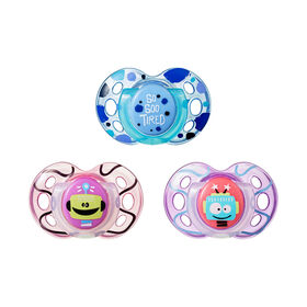 Tommee Tippee Day & Night Pacifier 3-Pack, 18-36 Months - So So Tired
