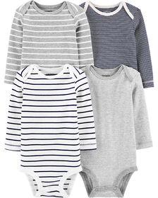 Carter's 4-Pack Striped Original Bodysuits Multi-Color - 3 Months