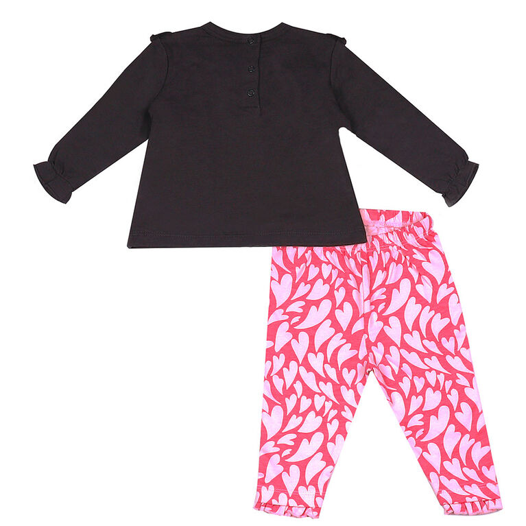 Earth by Art & Eden - Ensemble de 2 leggings Sophia - Nine Iron, 3 mois