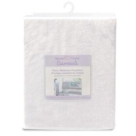 Koala Baby - Waterproof Terrycloth Mattress Protector - White
