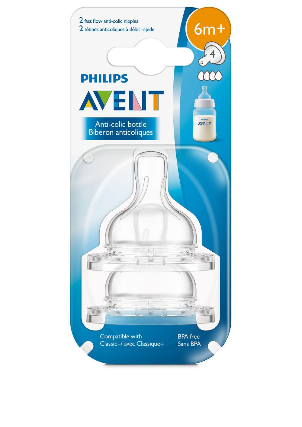 Clear Philips Avent Anti-Colic Nipple Slow Flow Dishwasher Safe MYTODDLER New