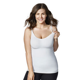 Bravado Body Silk Seamless Nursing Cami - White, Large