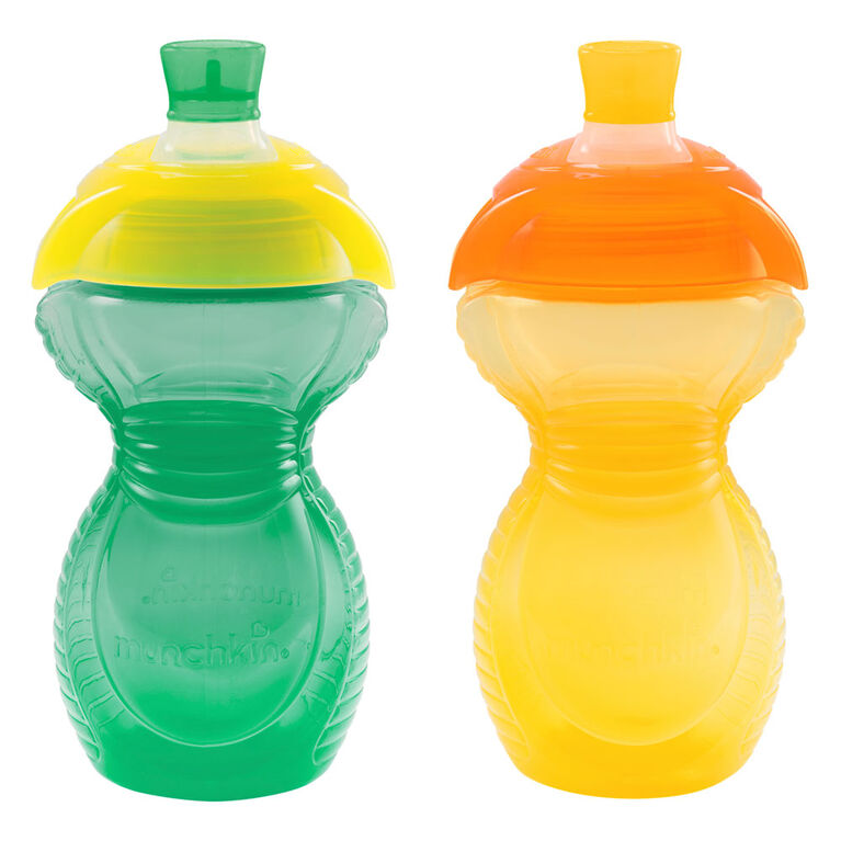 Munchkin Bite Proof Sippycup, 2-Pack - Green/Yellow