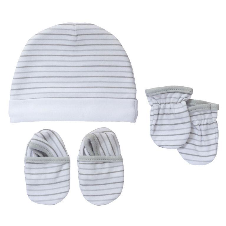 Koala Baby bonnet, mitaines et chaussons Gris, 3-6 mois