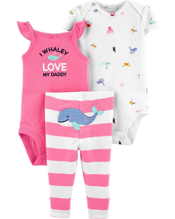 Carter's 3 piece Whale Set - 3-6 Months
