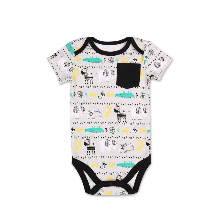 Koala Baby Safari Print Bodysuit/Short 2 Piece Set, 0-3 Months