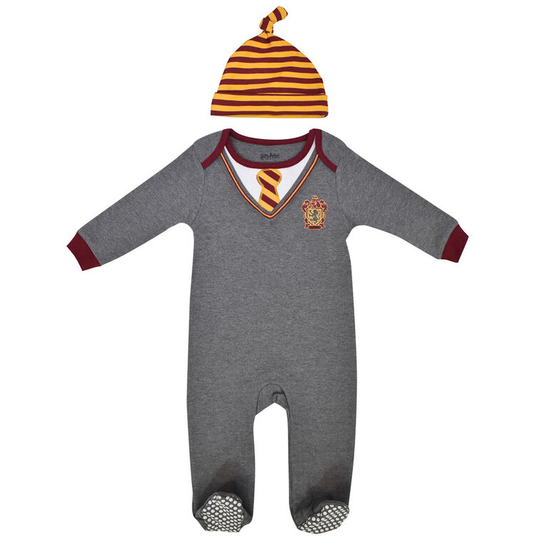 Warner's Harry Potter Sleeper with hat - Grey, 24 Months