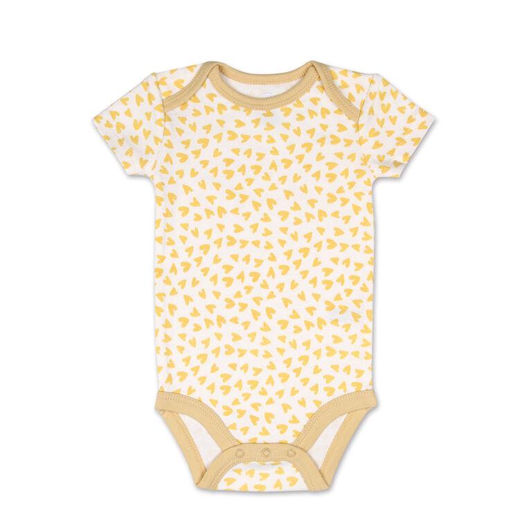 Koala Baby 4 Pack Short Sleeved Bodysuit, Love Me Deerly, Newborn