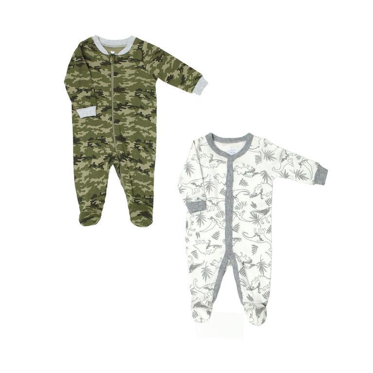 Koala Baby 2 Pack Sleeper - Camo Green, 12 Months