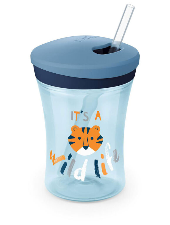 NUK Evolution Straw Cup 8 oz. - Blue