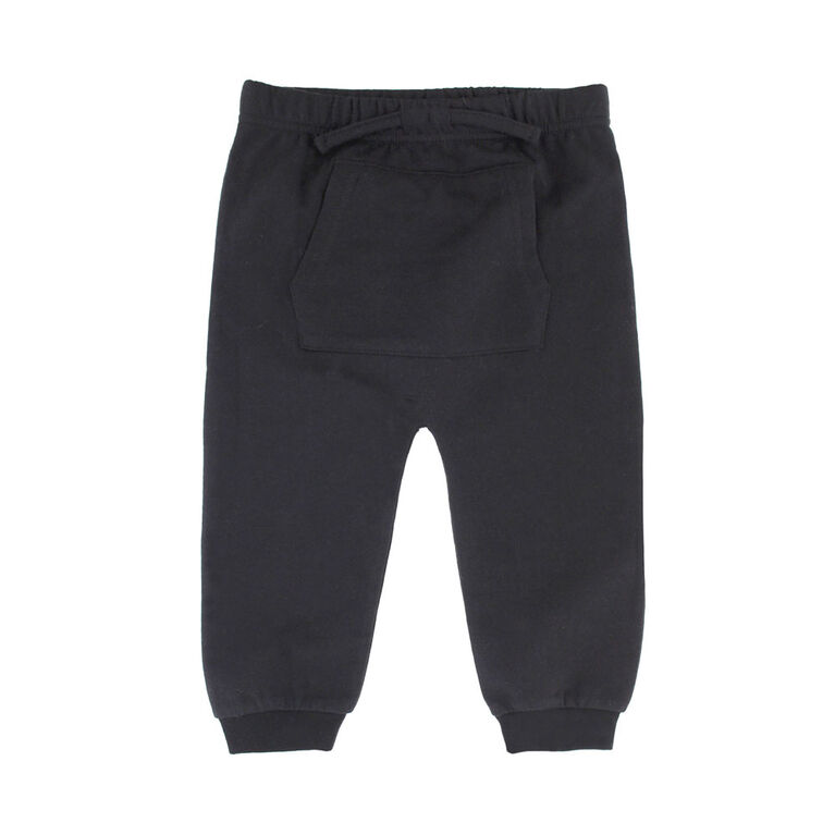 Pantalons Du Sport Avec De Poche Kangourou Koala Bebe Garcons - Noire, 9 Mois