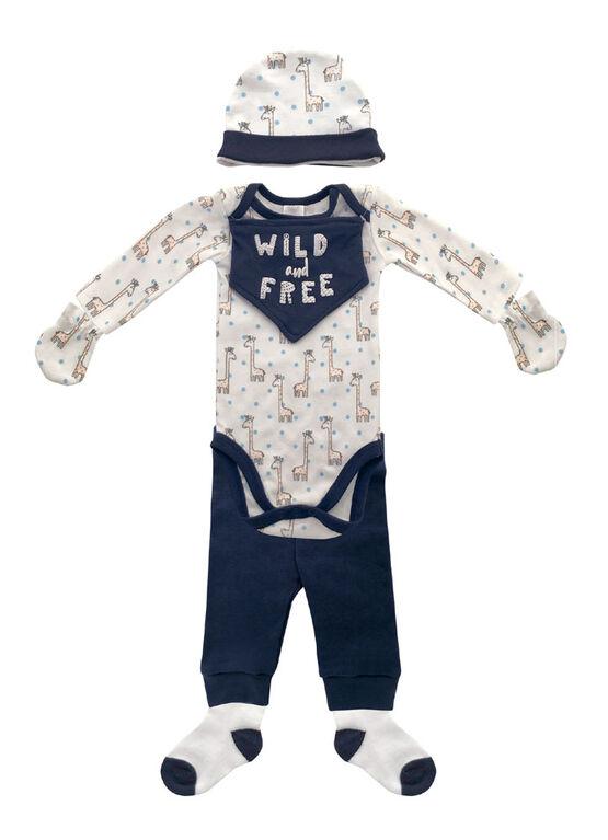 Koala Baby Pink 8 pieces set 0-3 month includes hat, mittens, socks, body suit, pants & bib