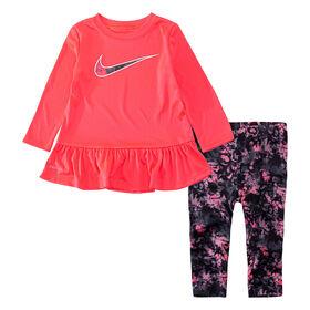 Nike Tunic and legging set Black, Size 2T