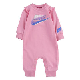 Nike Ruffle Coverall - Pink, Size 3 Months