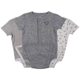 Koala Baby 3-Pack Diaper shirt - Grey, 0-3 Months
