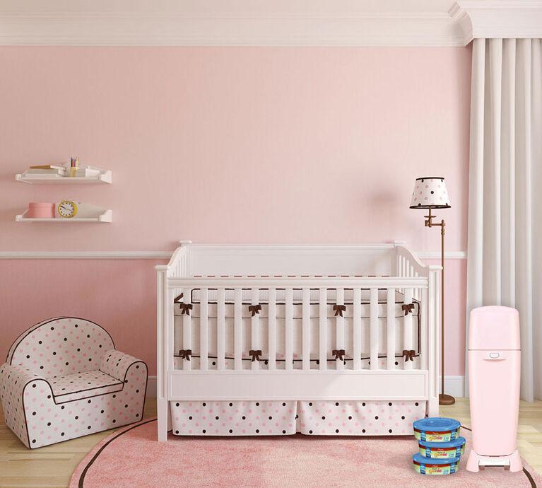 Poubelle à couches Diaper Genie Elite de Playtex Baby - Rose poudré