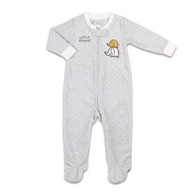 Koala Baby Microfleece Sleeper Grey w/ Dots - Little Peanut, 6-9 Month