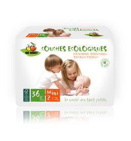 Bio Babby – Couches écologiques - MINI (6 sacs de 36 couches).