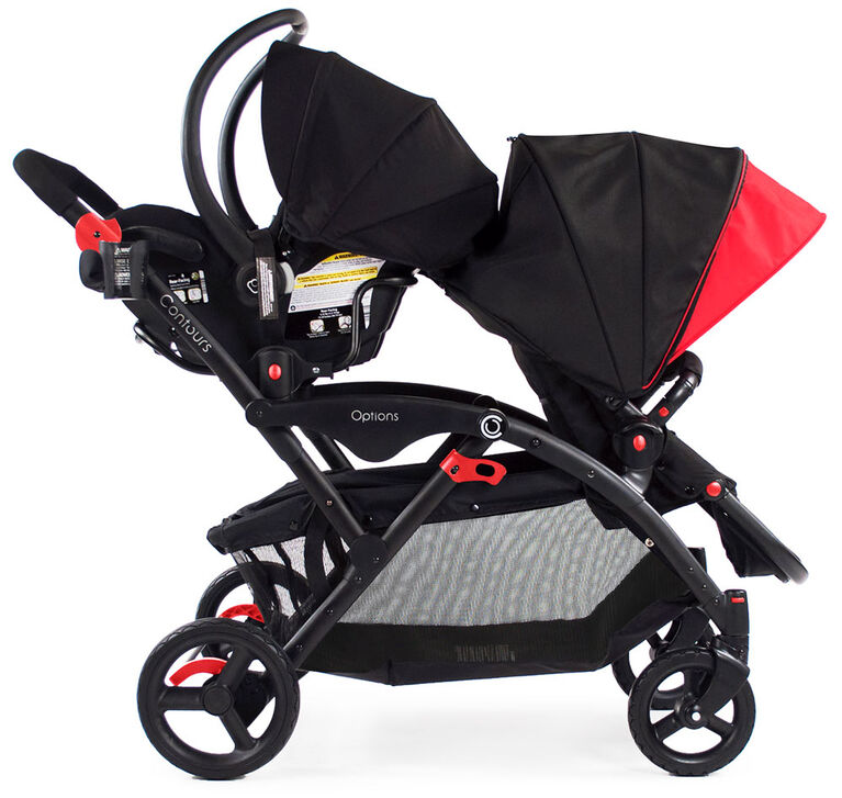 Contours Options Tandem Stroller - Black/Red - R Exclusive