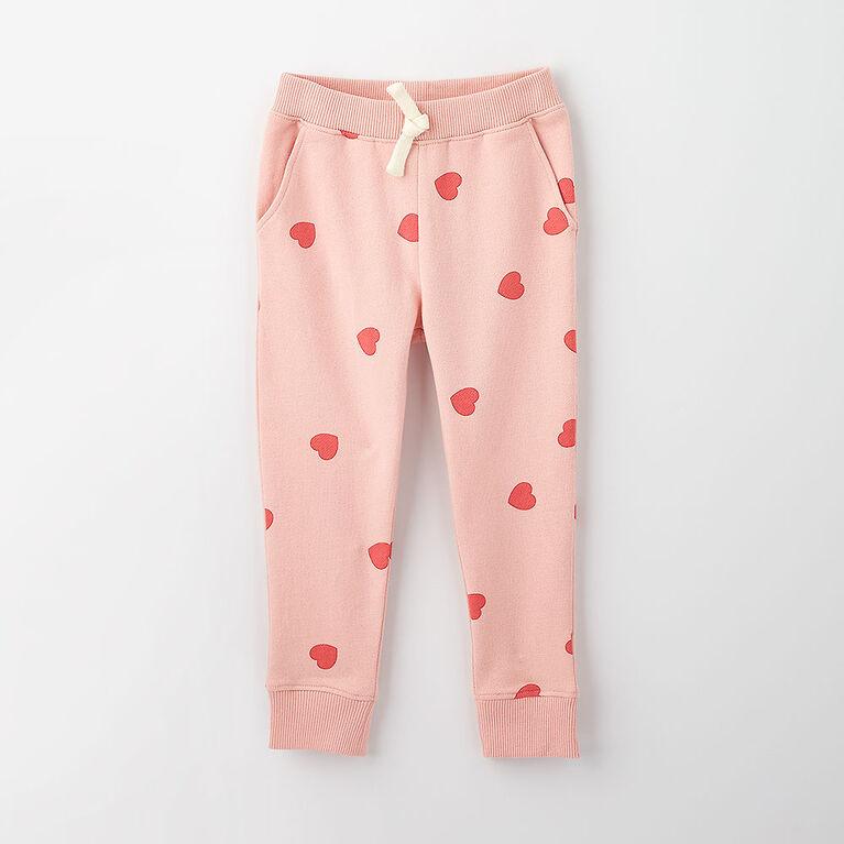 just chilling jogger, 18-24m - light pink print