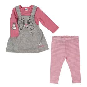 Disney Thumper 3pc Jumper Set - Pink, 3 Months