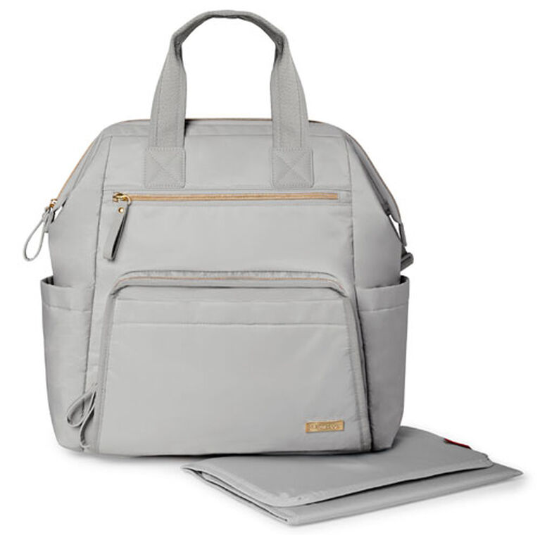Skip Hop MainFrame Wide Open Diaper Backpack - Cement