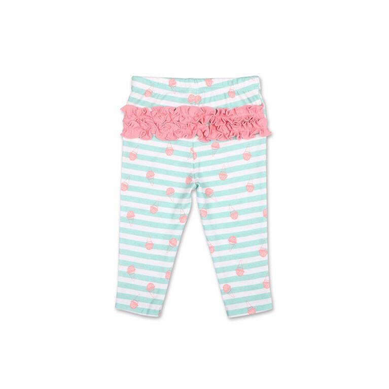 Koala Baby Pastel Rainbow Ice Cream Long Sleeve Tee/Legging 2 Piece Set, 24 Month