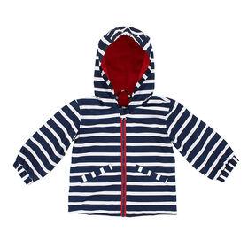 Northpeak Baby Boys Fashion Jacket- Marine Blue Stripes - 18 Months