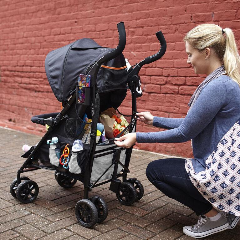 Poussette pratique 3Dtote CS+ de Summer Infant - Gris Gravier.
